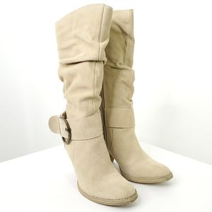 Very Volatile suede slouch boots with buckle sz 6